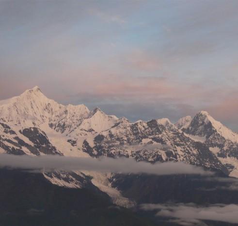 Noord Yunnan Mingyong gletsjer